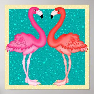 Paradise Flamingo Poster