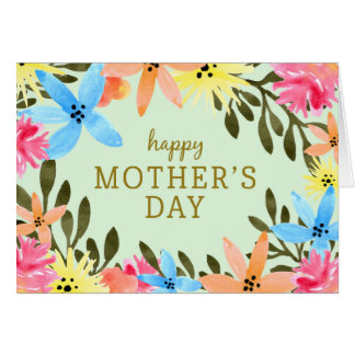 Paradise Floral Mother's Day Card Card