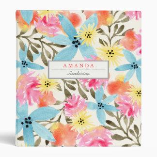 Paradise Floral Print 3 Ring Binder