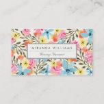 "Paradise Floral Print Business Card<br><div class=""desc"">Hand painted tropical floral design by Shelby Allison.</div>"
