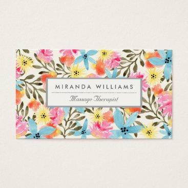 Hawaiian Themed Paradise Floral Print Business Card