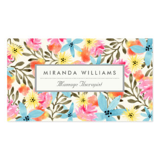 Paradise Floral Print Business Card Template