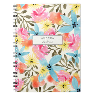 Paradise Floral Print Spiral Note Book
