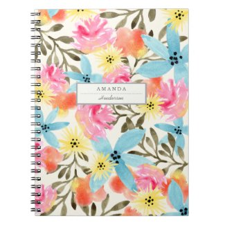 Paradise Floral Print Notebooks