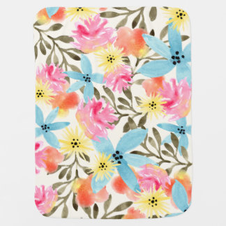 Paradise Floral Print Receiving Blankets