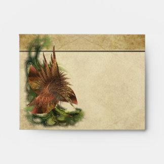 Paradise Flower Fractal Note Envelopes
