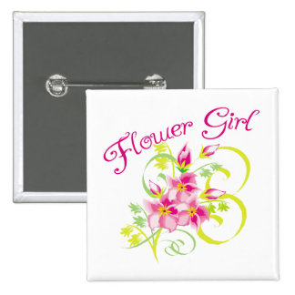 Paradise Flowergirl  Favors 2 Inch Square Button