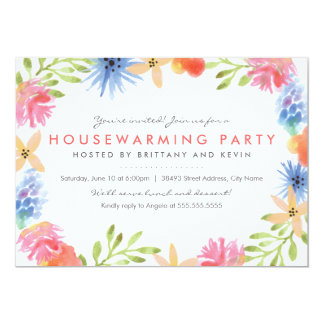 Paradise Flowers Housewarming Part Invite