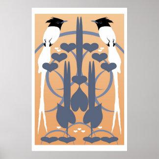 Paradise Flycatchers Print