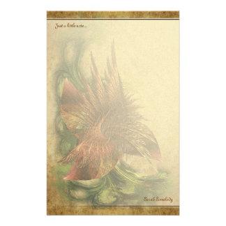 Paradise Fractal Flower Notepaper Stationery Paper