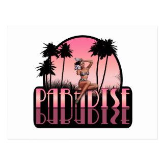 Paradise Girl Postcard