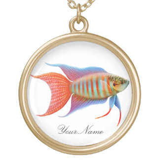 Paradise Gourami Fish Necklace