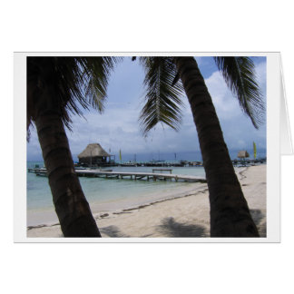 Paradise in Belize Card