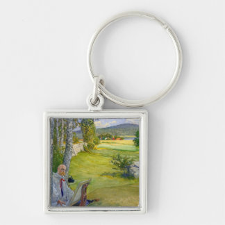 Paradise in Sweden 1910 Keychains