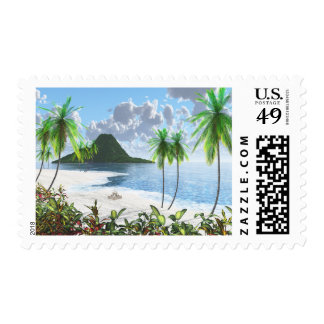 Paradise Island (2014) Postage Stamps