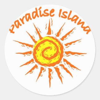 Paradise Island, Bahamas Classic Round Sticker