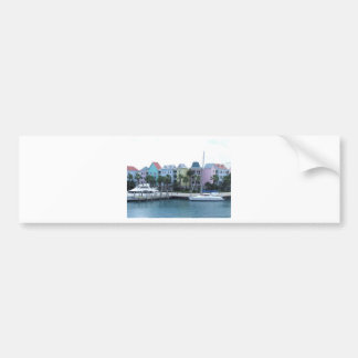 Paradise Island Bahamas Colorful Buildings Bumper Sticker