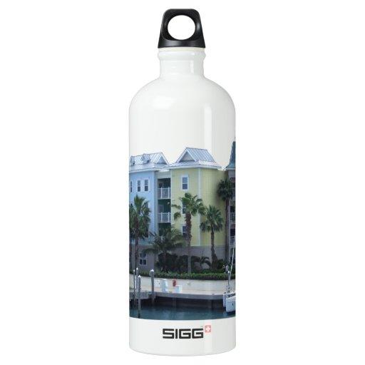Paradise Island Bahamas Colorful Buildings SIGG Traveler 1.0L Water Bottle