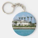 Paradise Island Basic Round Button Keychain