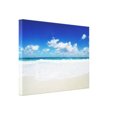 Beach Themed Paradise Island Beach Canvas Print