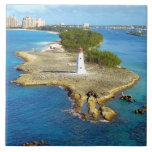 """Paradise Island Light Ceramic Tile<br><div class=""""desc"""">The oldest lighthouse in The Bahamas, still guiding ships into safe harbor, and a familiar sight to anyone cruising to Nassau, the Paradise Island Light celebrates its 200th year in 2017. You&#39;ll still hear it called the Hog Island Light, after the old name of the barrier island. The beacon flashes...</div>"""