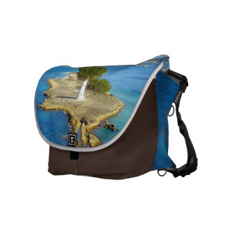 Paradise Island Light Large Brown Messenger Bag