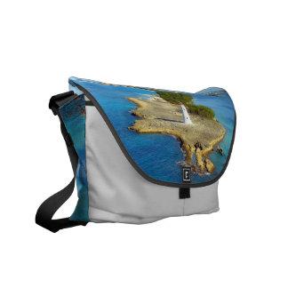 Paradise Island Light Medium Lt Gray Courier Bag