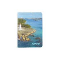 Paradise Island Light Monogrammed Passport Holder