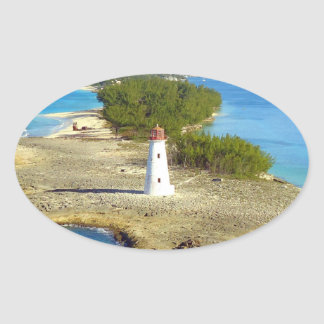 Paradise Island Light Oval Sticker