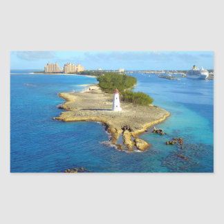 Paradise Island Light Rectangular Sticker