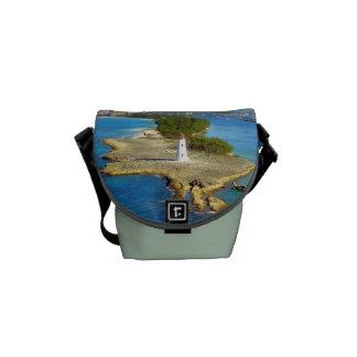 Paradise Island Light Small Green Messenger Bag