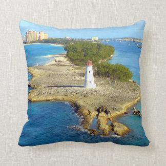 Paradise Island Light Throw Pillow
