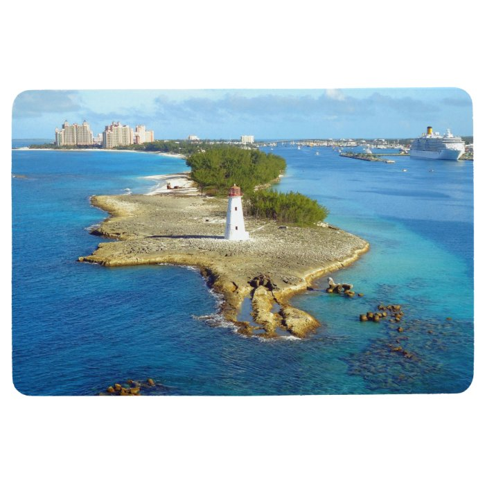 Paradise Island Lighthouse Nassau Floor Mat Zazzle