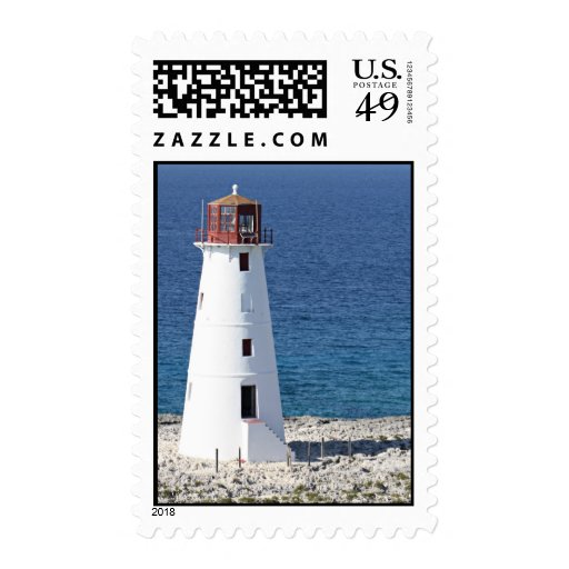 Paradise Island Lighthouse Postage Stamp