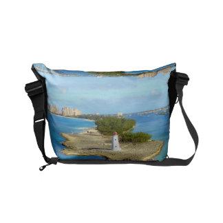 Paradise Island Lighthouse Small Messenger Bag