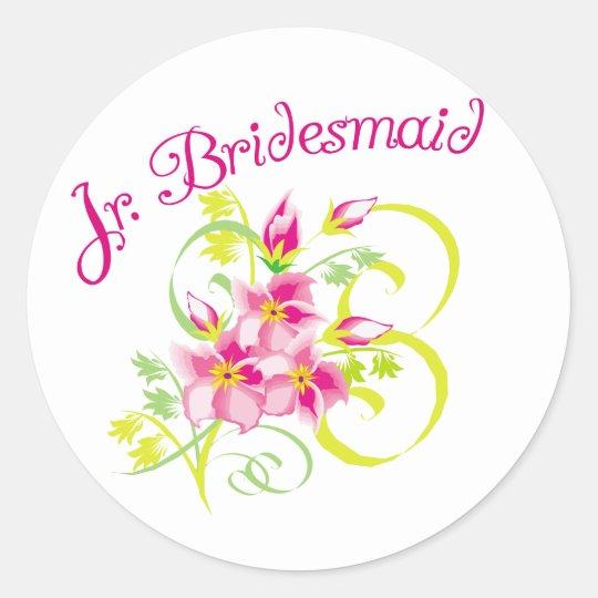 Paradise Jr. Bridesmaid Favors Classic Round Sticker