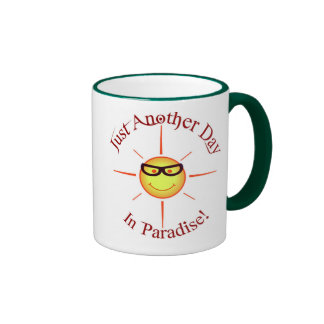 Paradise: just another day - ringer mug