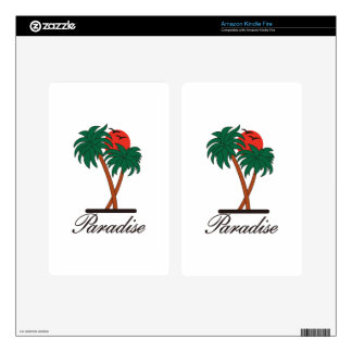 Paradise Kindle Fire Decals
