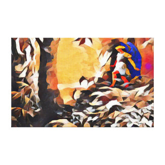 Paradise Lost Acrylic Abstract Paint Canvas Print