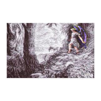 Paradise Lost Alternate Pencil Art Canvas Print