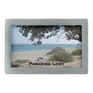 Paradise Lost Rectangular Belt Buckles