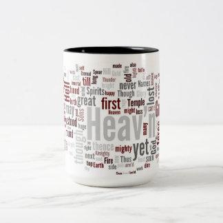 Paradise Lost Book I Two-Tone Coffee Mug