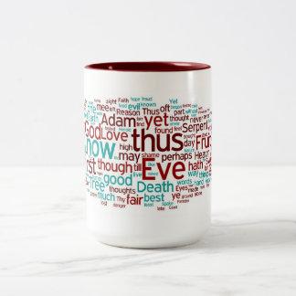 Paradise Lost Book IX: The Fall Two-Tone Coffee Mug