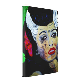 'Paradise Lost' (Zombie) Stretched Canvas Print