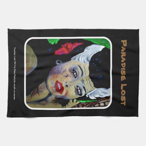 'Paradise Lost' Zombie, Tiki American MoJo Kitchen Kitchen Towels