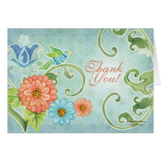 Paradise Love Birds 2, Thank You Note Cards