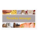 Paradise Massage Business Card Templates