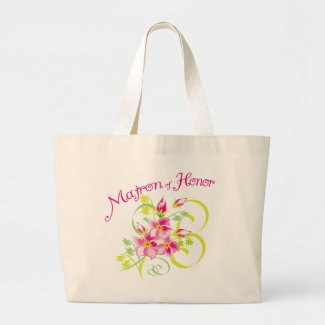 Paradise Matron of Honor tote bag