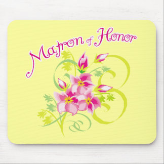 Paradise Matron of Honor Favors Mouse Pad