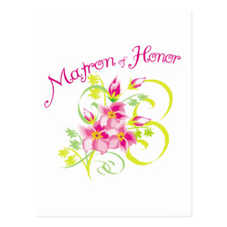 Paradise Matron of Honor T-shirts. Gifts Postcard